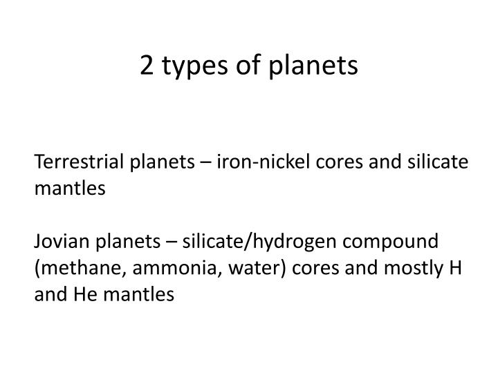 2 types of planets