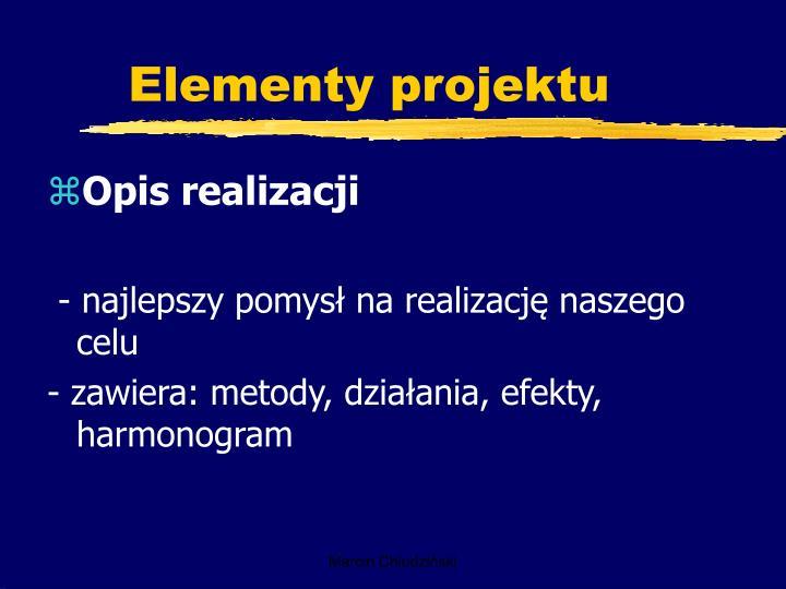 Elementy projektu