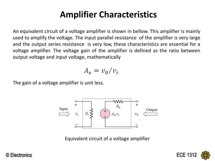 Amplifier Characteristics