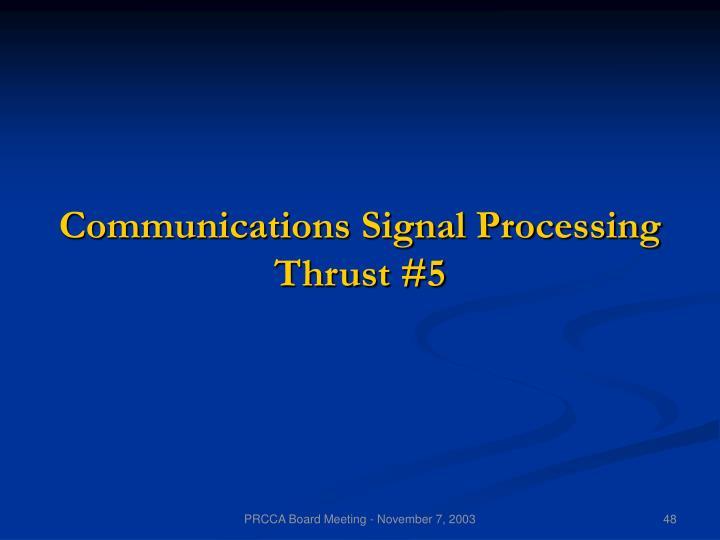 Communications Signal Processing