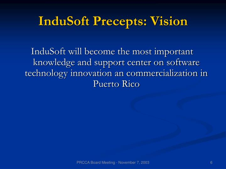 InduSoft Precepts: Vision