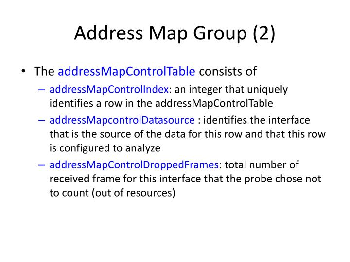 Address Map Group (2)