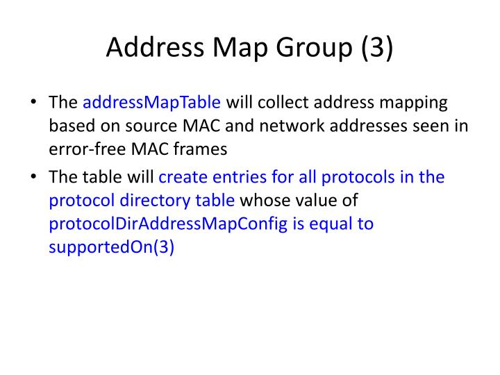 Address Map Group (3)