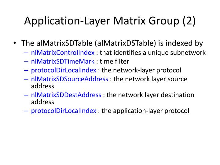 Application-Layer Matrix Group (2)