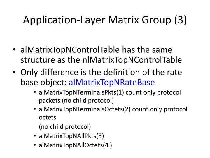 Application-Layer Matrix Group (3)