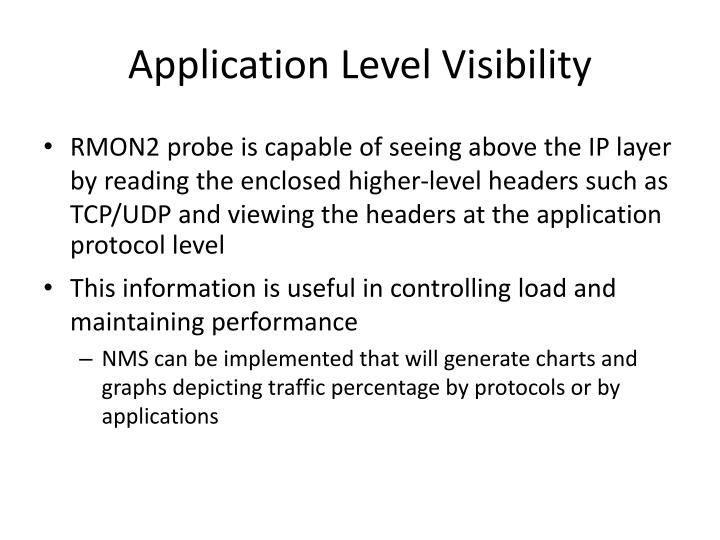 Application level visibility