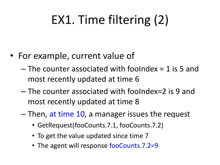 EX1. Time filtering (2)
