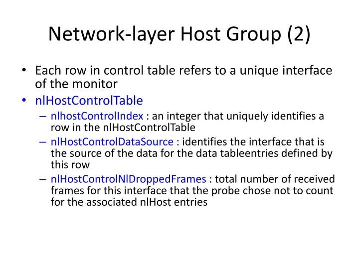 Network-layer Host Group (2)