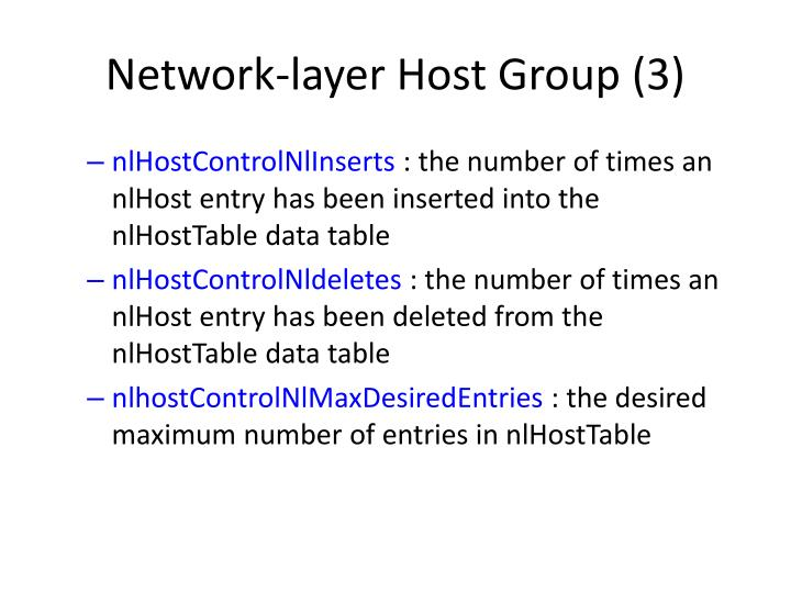Network-layer Host Group (3)