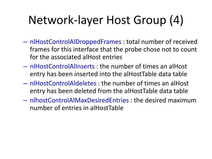 Network-layer Host Group (4)