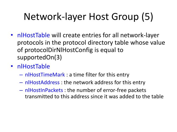 Network-layer Host Group (5)