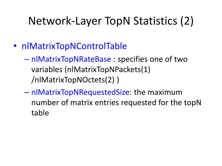 Network-Layer TopN Statistics (2)