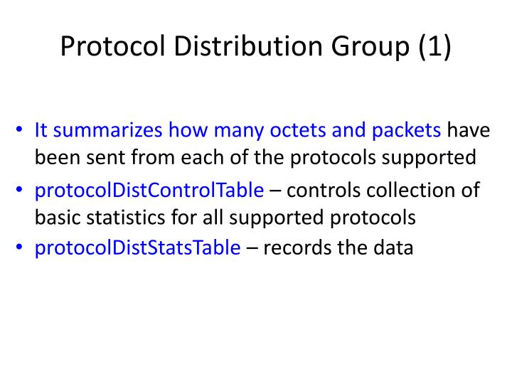 Protocol Distribution Group (1)