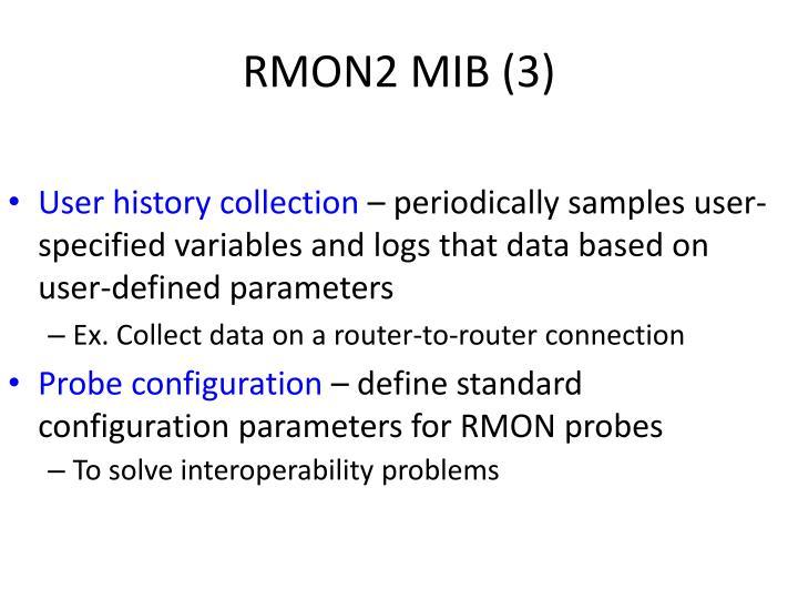 RMON2 MIB (3)