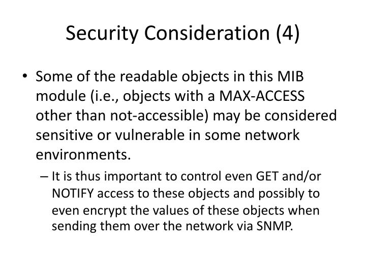 Security Consideration (4)
