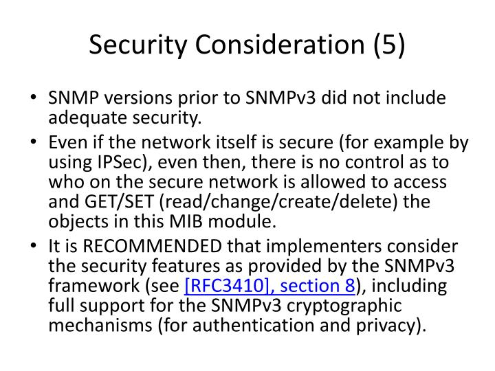 Security Consideration (5)