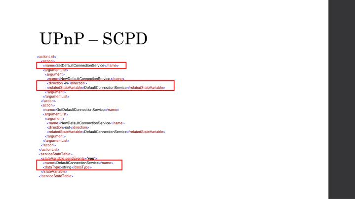 UPnP – SCPD