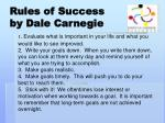 rules of success by dale carnegie