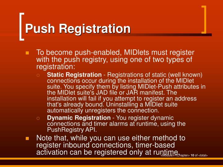 Push Registration