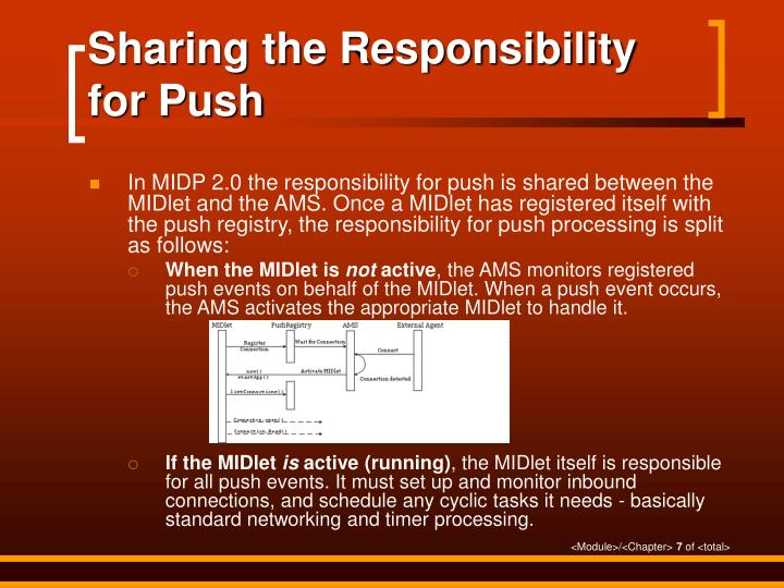 Sharing the Responsibility for Push