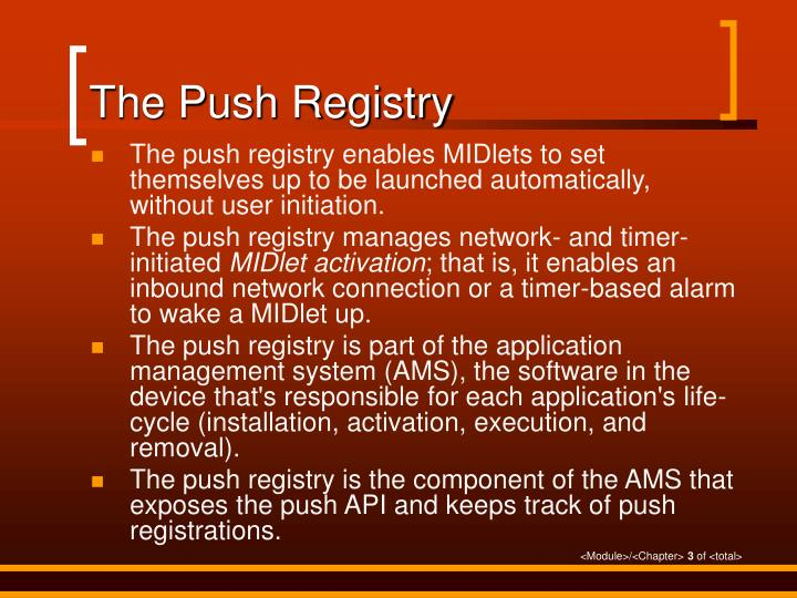 The Push Registry