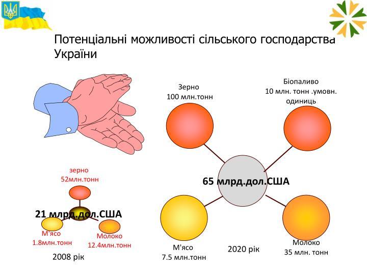 Потенціальні можливості сільського господарства України