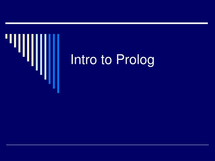 Intro to prolog