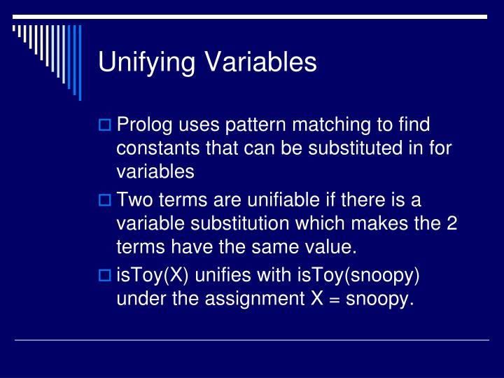 Unifying Variables