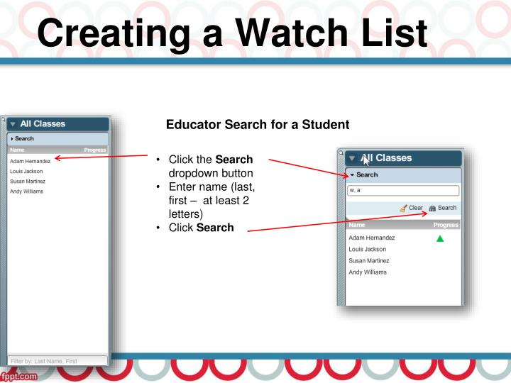 Creating a Watch List