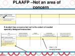 plaafp not an area of concern