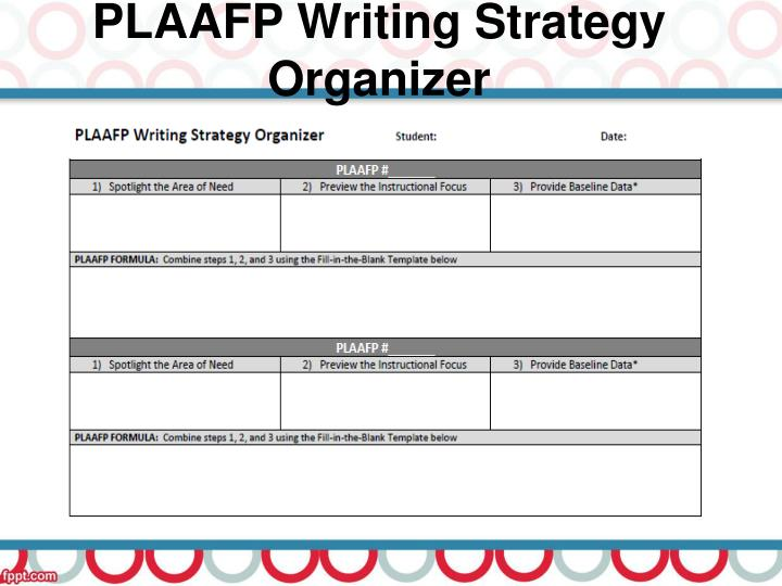 PLAAFP Writing Strategy Organizer