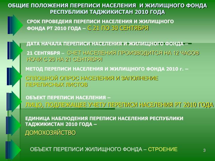 МЕТОД ПЕРЕПИСИ НАСЕЛЕНИЯ И ЖИЛИЩНОГО ФОНДА 2010 г. –