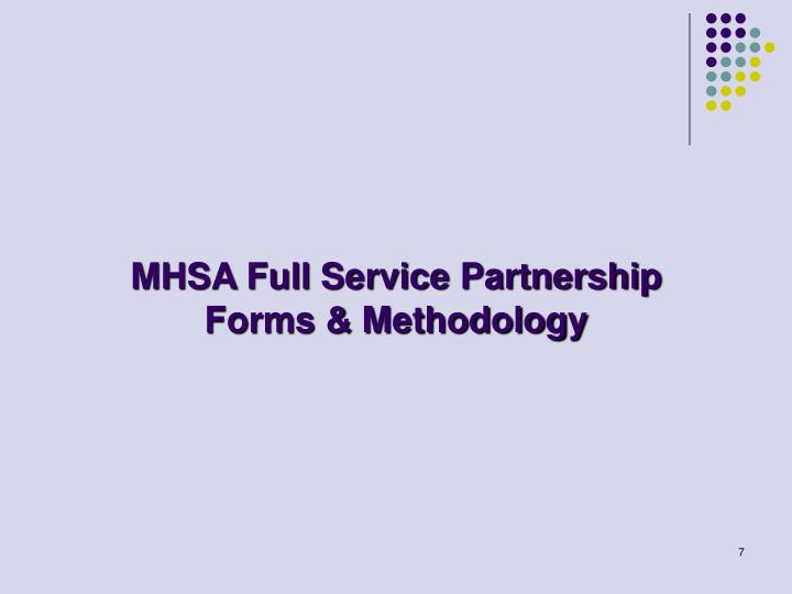 MHSA Full Service Partnership