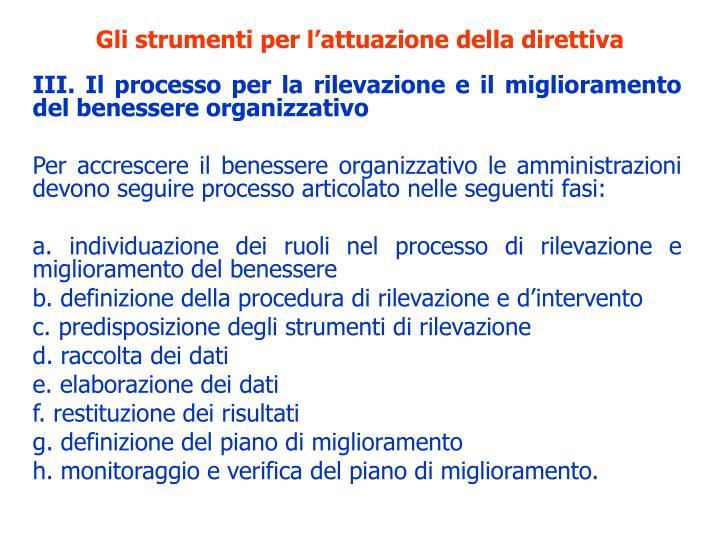 Gli strumenti per l'attuazione della direttiva