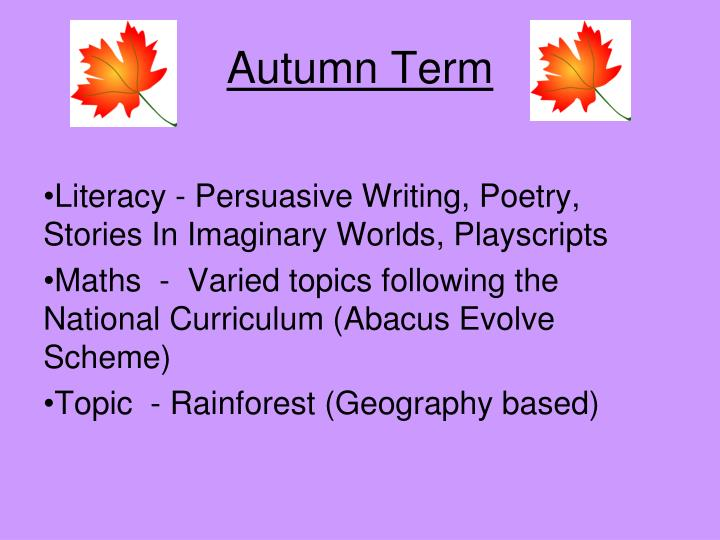 Autumn Term