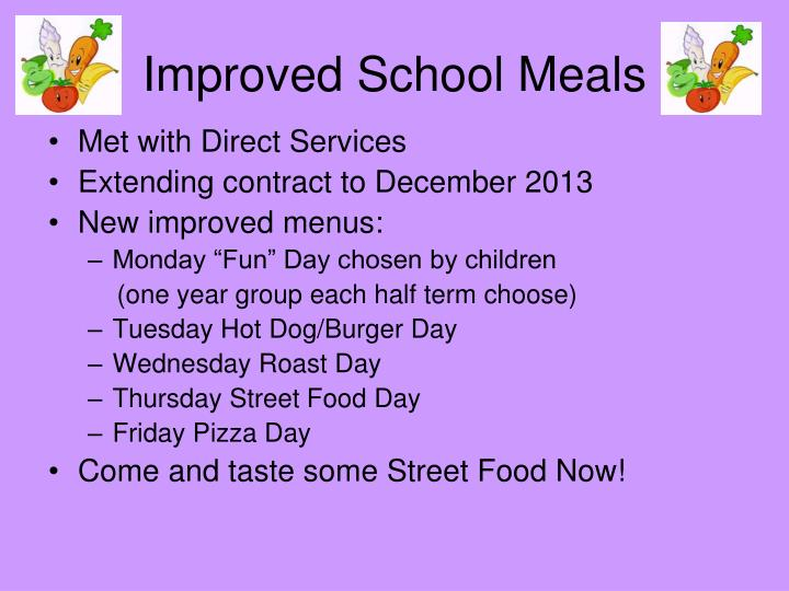 Improved School Meals