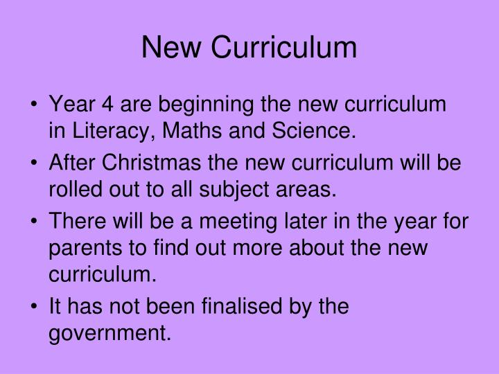 Year 4 are beginning the new curriculum in Literacy, Maths and Science.
