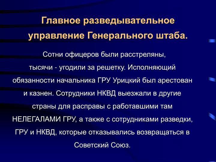 Главное разведывательное управление Генерального штаба.