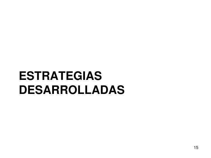 ESTRATEGIAS DESARROLLADAS