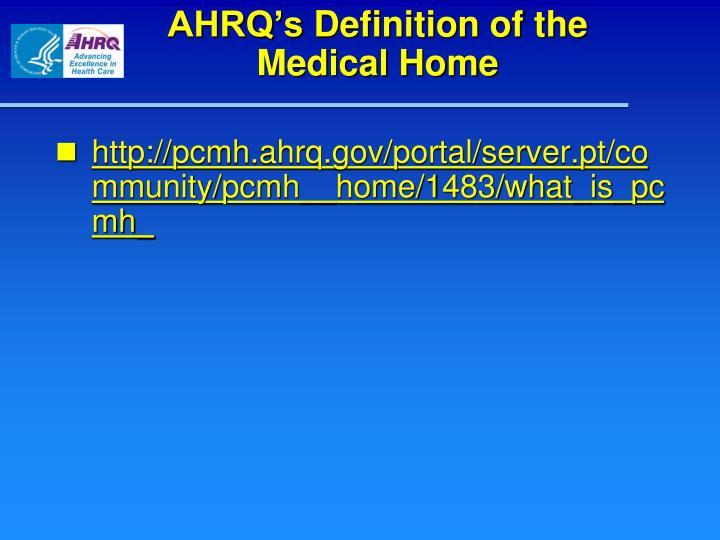 AHRQ's