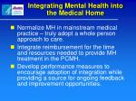 integrating mental health into the medical home