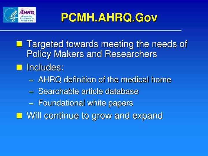 PCMH.AHRQ.Gov
