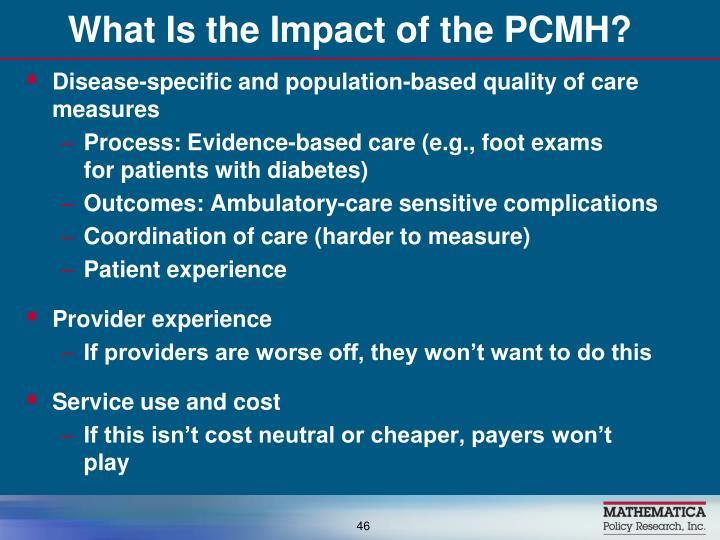 What Is the Impact of the PCMH?