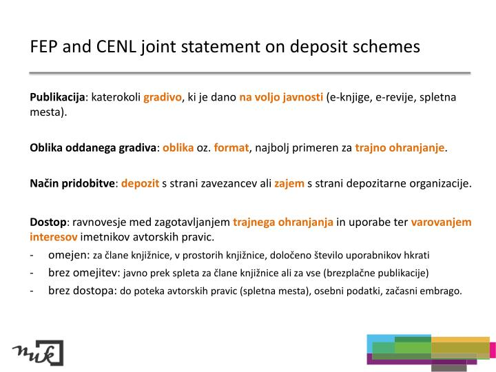 FEP and CENL joint statement on deposit schemes