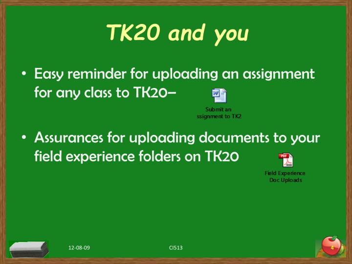 TK20 and you