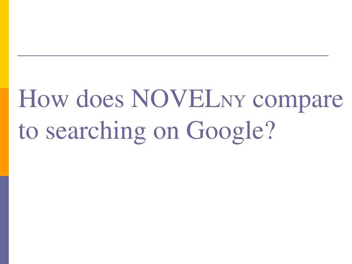 How does NOVEL