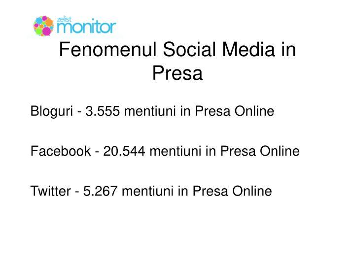 Fenomenul Social Media in Presa