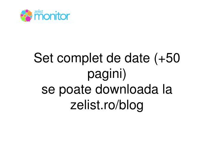 Set complet de date (+50 pagini)