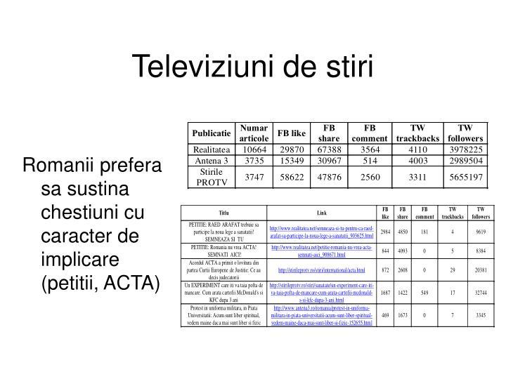 Televiziuni de stiri