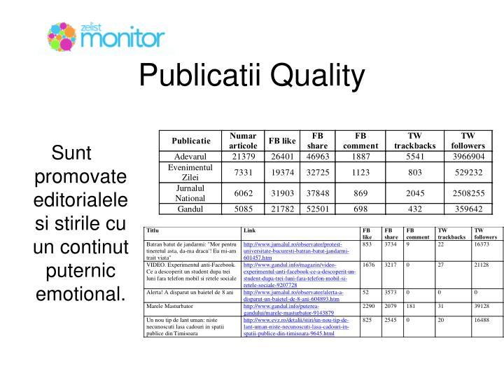Publicatii Quality